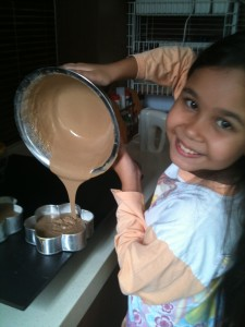 This is my daughter, the aspiring baker.