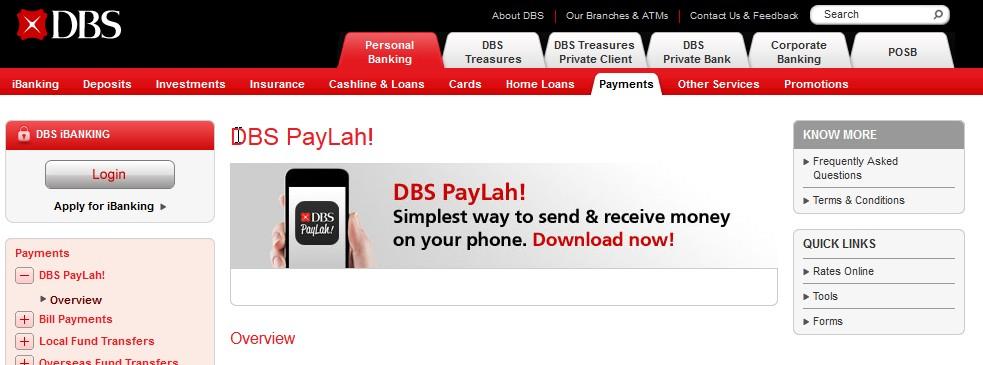 POSB/DBS iBanking Going Singlish? PayLah!
