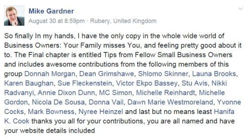 Business Owners: Your Family Misses You by Mike Gardner